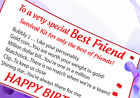 Best friend Special Friend survival kit Thank you OR BIRTHDAY gift card