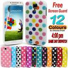 Durable Fitted Polka Dot Silicone Hard Gel Case Cover for Samsung Galaxy S4