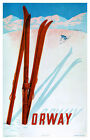 NORWAY.. Vintage 1957 Travel/Skiing Poster A1A2A3A4Sizes