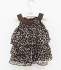 Baby Kids Children Toddlers Girl Chiffon Dress Top Outfit Clothes Tutu Leopard