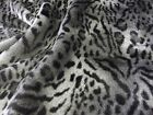 Super Luxury Faux Fur Fabric Material - SILVER LYNX