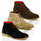 MENS CLASSIC SUEDE LEATHER DESERT CHUKKA CASUAL MID LACE ANKLE BOOTS SHOES SIZE