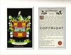RAFTER to REED Family Coat of Arms Crest + History - Mount or Framed