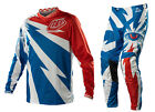 NEW 2014 TROY LEE DESIGNS TLD GP AIR CYCLOPS MX GEAR COMBO BLUE-WHITE ALL SIZES