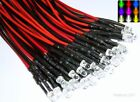 Pre-Wired 3mm LED's With Resistors Various Colours Free UK Postage