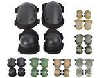 6 Color Airsoft Tactical Knee & Elbow Protective Pads Set Black/TAN/ACU/OD/WD B