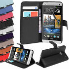 New Premium PU Leather Credit Card Slots Wallet Flip Case cover for HTC ONE M7