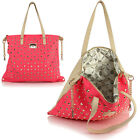 Womens Ladies Large Lydc Stud Shoulder Satchel Tote Shopper Hand Bag Anna Smith