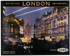 VISIT LONDON Vintage LNER Art Deco Railway/Travel Poster A1,A2,A3,A4 Sizes