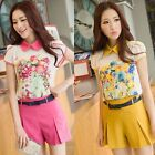 Korean Style Fashion  Womens Mid-Rised Slim Casual Shorts Hot Candy Color pants
