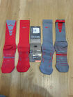 New Nike Football Elite Performance Crew Socks Size Large 8-12 Dri-Fit Red Gray