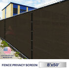 8'x50' Green Black Beige Brown Privacy Fence Windscreen Garden Shade Mesh Fabric