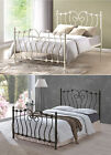 Cheapest Price Metal Bed Frame in 4.6ft Double size or 5ft Kingsize in Ivory