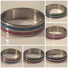 SIZE 6.25 - 2 Color -Crystal Powder - Stainless Steel Ring - 6 Styles - U106