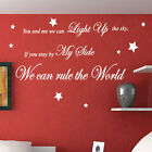 Take That  Rule The World Song Lyrics Wall Quote Stickers Wall Decals Words
