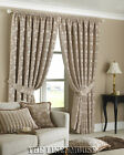 BEIGE THICK HEAVY WEIGHT  66 x 90 (168x229cm) CHENILLE CURTAIN PAIR.PERIOD STYLE