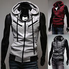 New Mens Slim Fit Casual Sleeveless Hoodie T-Shirts Zipper Jumper Tank Tops Vest
