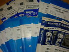 Stockport County HOME programmes late 1970's choose from list FREE UK P&P