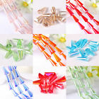 Whosale 20/100pcs Glass Crystal Conical Spacers Beads Jewelry DIY 8x15mm 7 Color