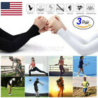 3 Pairs White&Black Cooling Arm Sleeves Cover UV Sun Protection Basketball Sport