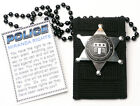 U.S. POLICE Undercover Cop Lanyard & METAL SHIELD -  FANCY DRESS - ALL You Need!