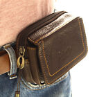 New Genuine Leather Pocket Belt Loops Waist Bag Pouch Wallet Purse
