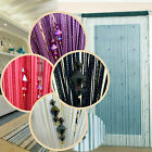 Sparkle Beaded String Door Window Curtain Divider Room Blind Tassel Fly Screen