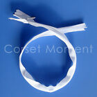 """White Invisible Zipper 16"""" Long Intimate Wear Accessories Dress Making Supplies"""