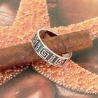STERLING SILVER FANCY BAND SOLID .925 /NEW SIZE J-Y JEWELLERY