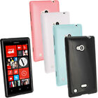 Glossy TPU Gel Skin Case Cover for Nokia Lumia 720 Windows + Screen Protector