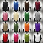 Tonal Stripe Satin Vest & Necktie Set for Suit or Tuxedo 16 Colors Available