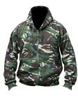 Mens Hooded Full Zip Top Hoodie Military Combat Army DPM Camo Fleece Jacket New