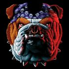 NEU Biker Chopper Fantasy Gothic T-Shirt Hund Bulldogge Tuff Dog S - 6XL