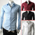 Delicate Mens Luxury Stylish Casual Dress Slim Fit Shirts 4Colours US S M L XL