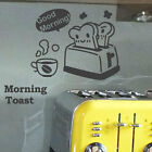 Funny Kitchen Coffee Toast  Restaurant  Wall Quote Art Stickers Wall Decals