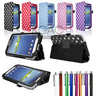 For SAMSUNG GALAXY Tab 3 7.0'' P3200 P3210 Premium Stand PU Leather Case Cover