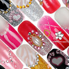 12 Vintage long size colorful shiny Pre-Designed False Nail Art Tips Deco kits