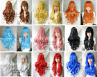 Hot 9 Colors heat resistant ramp bang long Curly Cosplay lady's Hair Full Wigs