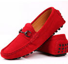 Fulinken EU 38-44 GENUINE Leather SLIP-ON Loafer Red driving mens boat shoes