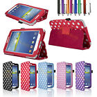 Polka Dot Stand PU Leather Case Cover For SAMSUNG GALAXY Tab 3 7.0'' P3200 P3210