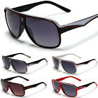 2 Tone Mens Womens Turbo Aviator Vintage Millionaire Sunglasses Black White Red