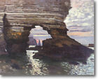 HUGE Monet  Rock Arch at Etretat Stretched Canvas Giclee Art Repro ALL SIZES