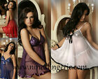 Plus size / one size sexy lingerie sequins & Mesh Babaydoll , Chemise Set
