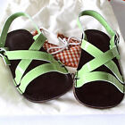 New Petite Maloles Childrens Green Patent Buckle Sandal Infant Sizes MSRP $125