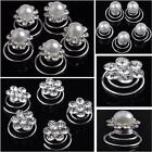 Wholesale 12PCS Spiral Crystal&Pearl Twist Bridal Wedding Clips Hair Pins Free