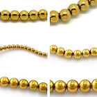 Hematite Hot Loose Beads  Gold Plated M1038