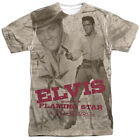 Elvis Presley Flaming Star Big Print Sublimation Licensed Adult T Shirt