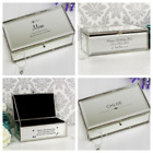 PERSONALISED JEWELLERY BOX Mum Daughter Christmas Bridesmaid Valentines Day Gift