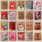 5pc SMALL / MINI GIFT PRESENT BAGS BIRTHDAYS CHRISTMAS TEDDY BUTTERFLIES PLAIN
