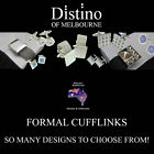 Mens Formal Cufflinks by Distino - Cuff link designs for weddings, gifts, etc
